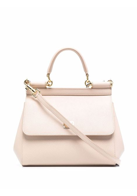 Nude calf leather Miss Sicily tote bag  DOLCE & GABBANA      BB6003-A100180414