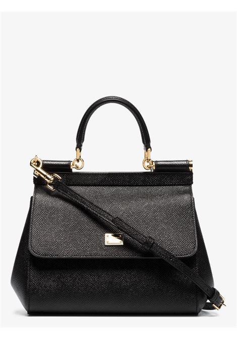 Black dauphine calf leather Miss Sicily shoulder bag  DOLCE & GABBANA      BB6003-A100180999