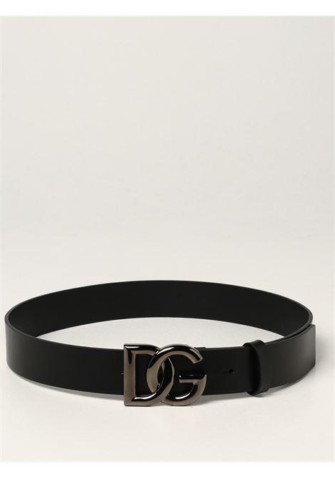Black calf leather DG crossed logo 3,5 belt  DOLCE & GABBANA |  | BC4628-AX62280999