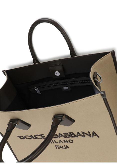 Beige and black cotton Dolce & Gabbana canvas tote bag  DOLCE & GABBANA |  | BM1796-AO9978C701