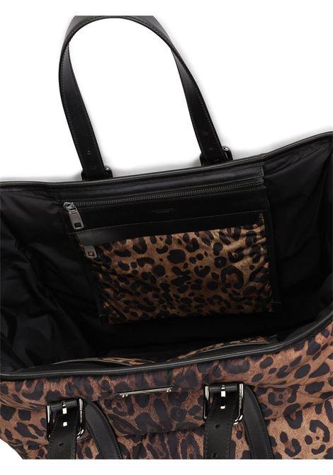 Brown calf leather leopard-print tote bag  DOLCE & GABBANA |  | BM1998-AO824HADRM
