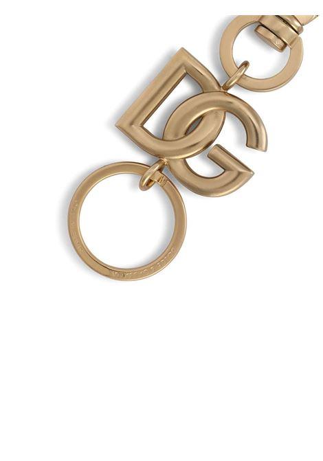 Portachiavi con logo dorato DG in oro DOLCE & GABBANA | Portachiavi | BP3002-AM6918M107