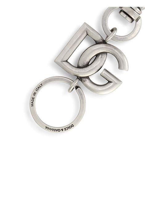 Portachiavi con logo dorato DG argento DOLCE & GABBANA | Portachiavi | BP3002-AM6918M114