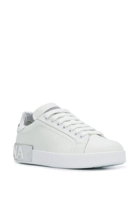 white and silver calf leather Portofino low-top sneakers DOLCE & GABBANA |  | CK1544-AX61580998