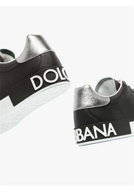 black leather Portofino sneakers featuring a silver  heel counter DOLCE & GABBANA |  | CS1760-AH5278B979