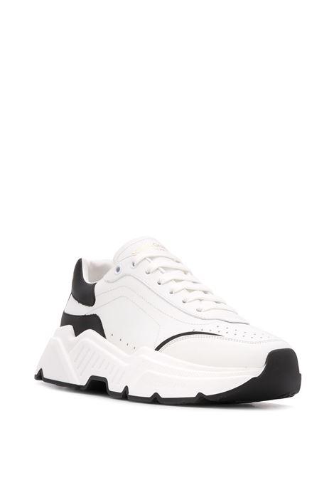 sneakers Daymaster in gomma e pelle di vitello bianche e nere DOLCE & GABBANA | Sneakers | CS1791-AX58989697