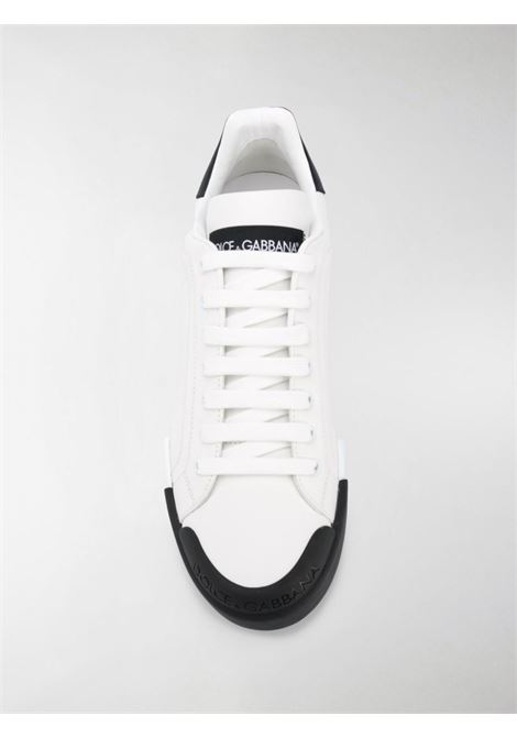 White leather Portofino sneakers featuring black contrasting details DOLCE & GABBANA |  | CS1802-AW11389697