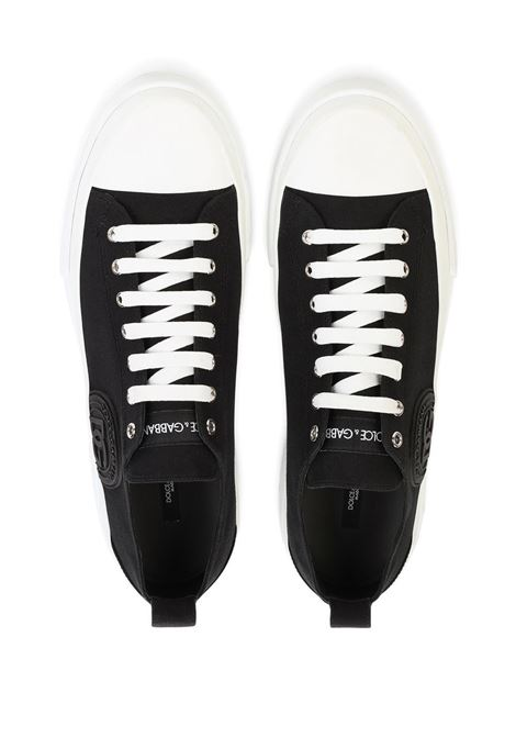 Black cotton low-top canvas sneakers  DOLCE & GABBANA |  | CS1888-AO86789697