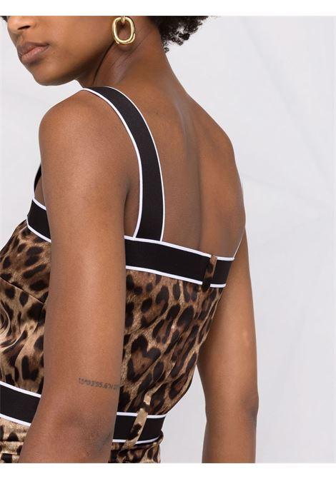 silk mini dress featuring all-over leopard print DOLCE & GABBANA |  | F6R7QT-FSAXYHY13M