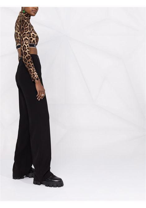 leopard print silk cropped top featuring Dolce & Gabbana DOLCE & GABBANA |  | F75L8T-FSADDHY13M