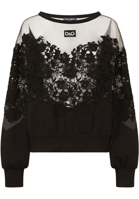 Black lace-appliqué jumper  DOLCE & GABBANA      F9J92T-G7A1YN0000