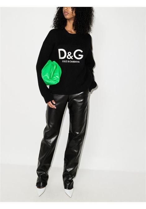 Black virgin wool Dolce & Gabbana logo-embroidered jumper  DOLCE & GABBANA      FX243Z-JBVG5N0000