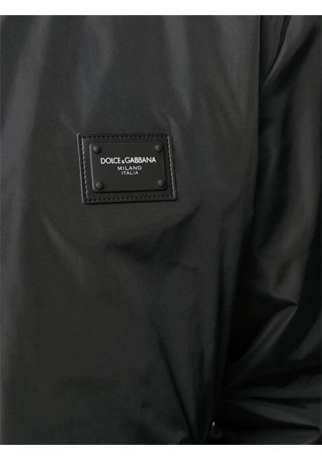 bomber nero con placca Dolce & Gabbana frontale DOLCE & GABBANA | Giubbini | G9OW1T-FUMQGN0000