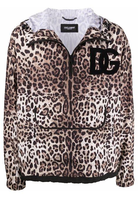 giubbino leopardato con logo DG con cappuccio DOLCE & GABBANA | Giubbini | G9P7Z-HSMW8HY13M