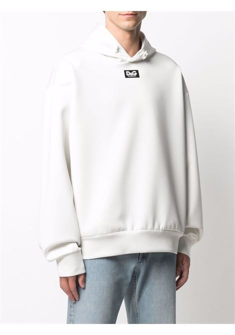 White hoodie featuring Dolce & Gabbana logo patch at the chest DOLCE & GABBANA |  | G9VW5T-FUGK6W0001