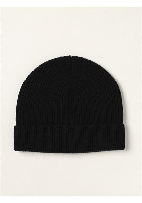 Berretto nero in lana vergine a coste sottili DOLCE & GABBANA | Cappelli | GXE84T-JAV99N0000