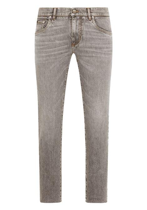 Jeans slim fit in cotone grigio con logo Dolce & Gabbana DOLCE & GABBANA | Jeans | GY07LD-G8EG7S9001