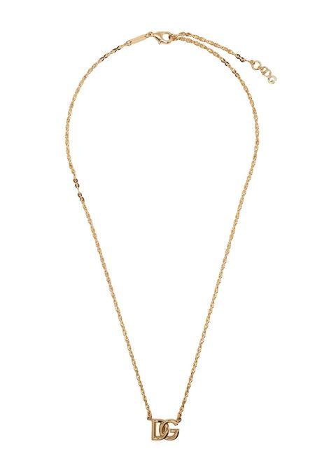 Collana a catena con logo DG in ottone dorato DOLCE & GABBANA | Collana | WNN5Y2-W1111ZOO00