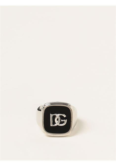brass debossed Dolce & Gabbana logo signet ring  DOLCE & GABBANA |  | WRN5B2-W111187655