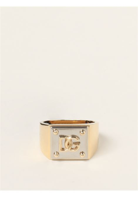 Gold-tone and silver ring featuring DG logo plaque  DOLCE & GABBANA |  | WRN5B3-W111187562