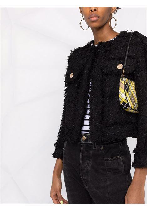 Black wool fringe trimmed tweed jacket  EDWARD ACHOUR PARIS |  | 010109-32NERO