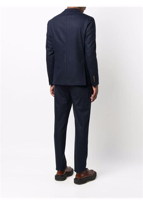 Abito blu navy doppiopetto in lana e cashmere elasticizzato ELEVENTY | Abiti | D70ABUB01-TES0D03711
