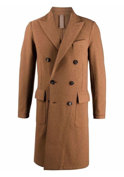 Cappotto doppiopetto aderente in lana marrone ELEVENTY | Cappotti | D70CAPB01-CAS2400404N