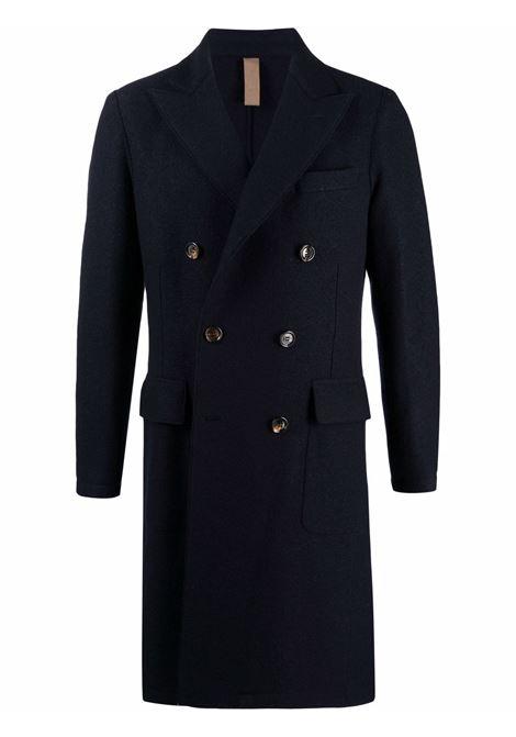 Cappotto doppiopetto aderente in lana blu navy ELEVENTY | Cappotti | D70CAPB01-CAS2400411N