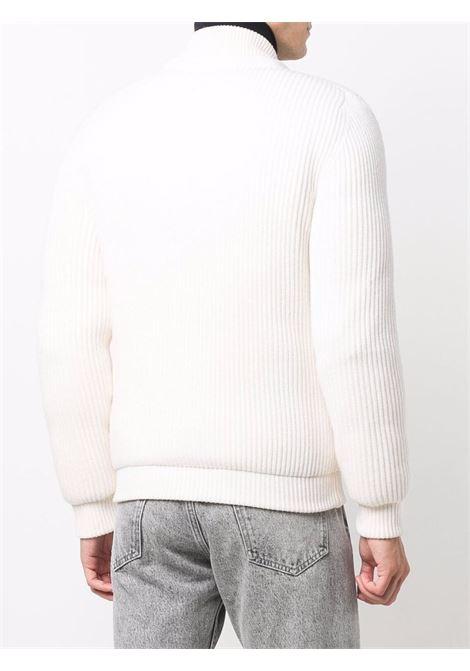Maglia a coste in lana vergine bianca con lavorazione a coste ELEVENTY | Giubbini | D70GBTD06-MAG0D03000