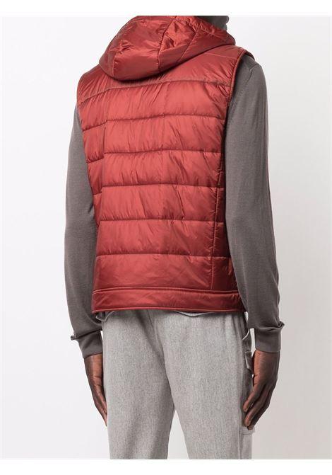 gilet trapuntato rosso con cappuccio classico ELEVENTY | Gilet | D70GILC02-NYL0D00209