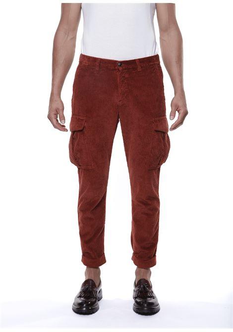Pantaloni cargo in velluto a coste di cotone color ruggine ELEVENTY | Pantaloni | D70PAND03-TET0D00709