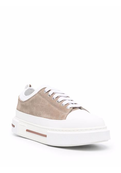 Brown and white suede platform-sole sneakers  ELEVENTY |  | D72SCND02-SCA0D00802