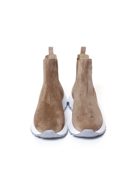 Brown calf leather chunky-sole socks boots  ELEVENTY |  | D72SCND07-SCA0D01204
