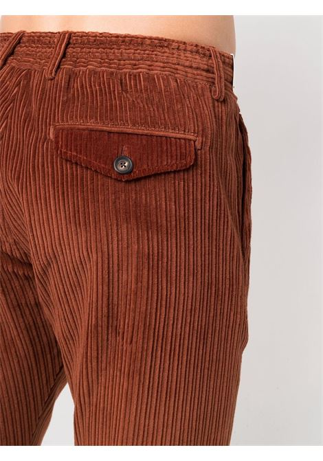 Brown cotton double-breasted corduroy suit  ELEVENTY |  | D75ABUC03-TES0D07209