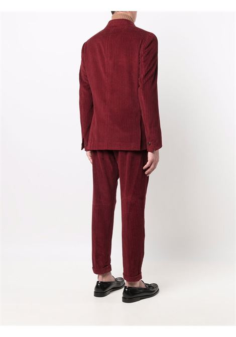 Red cotton and cashmere corduroy double-breasted suit ELEVENTY |  | D75ABUC03-TES0D07218