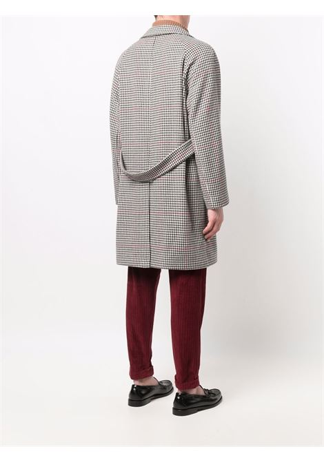 Grey wool and cashmere houndstooth double-breasted coat  ELEVENTY |  | D75CAPD11-TES0D00815
