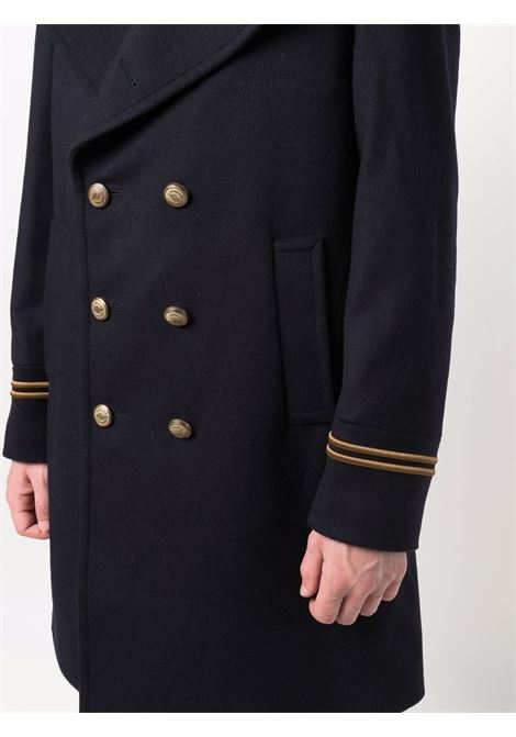 Blue wool and cashmere embossed-button coat   ELEVENTY |  | D75CAPD13-TES0D05211