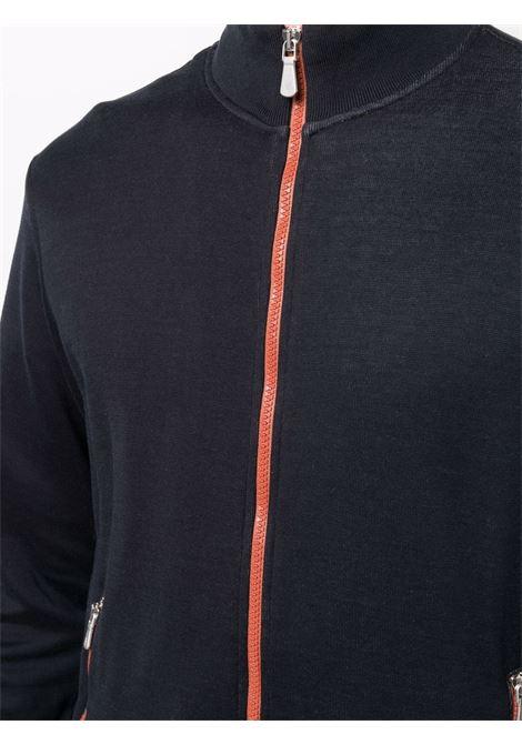 Felpa blu in cotone con zip ELEVENTY | Felpe | D75FELD12-FEL2600511A