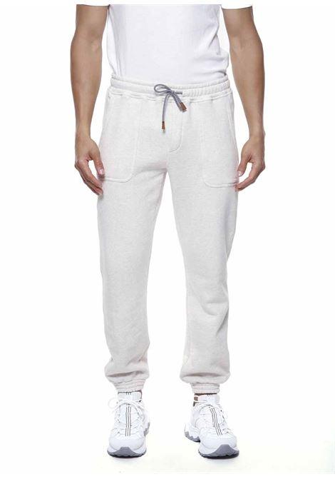Pantaloni sportivi con coulisse in cotone bianco ELEVENTY | Pantaloni | D75FELD16-TES0D16301