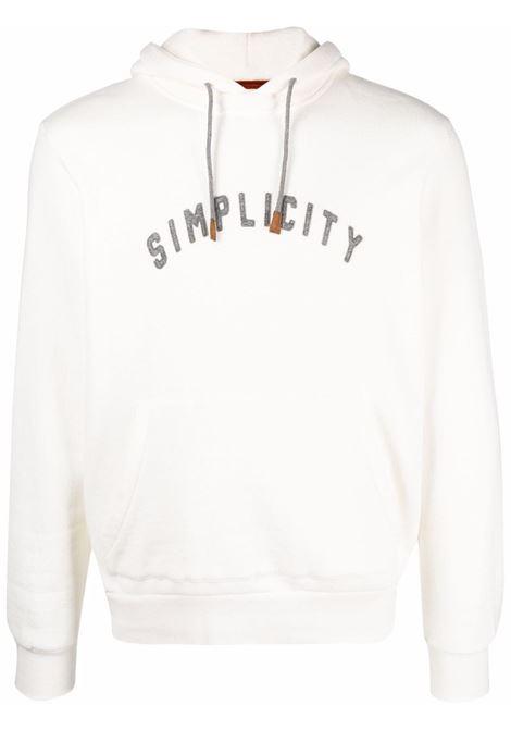 Felpa in cotone bianco con patch Semplicity ELEVENTY | Felpe | D75FELD18-TES0D16301