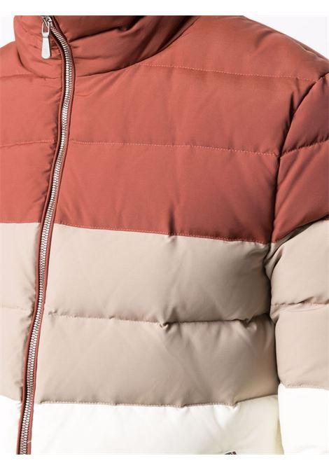 Piumino bordeaux e avorio a blocchi di colore con design a pannelli ELEVENTY | Piumini | D75GBTD05-TES0D146000309