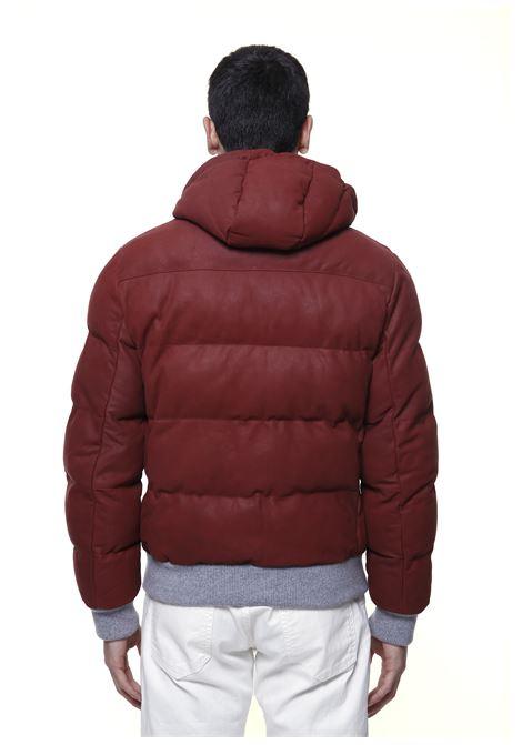 Red calf leather hooded puffer jacket  ELEVENTY      D75GBTD20-PEL0D00309