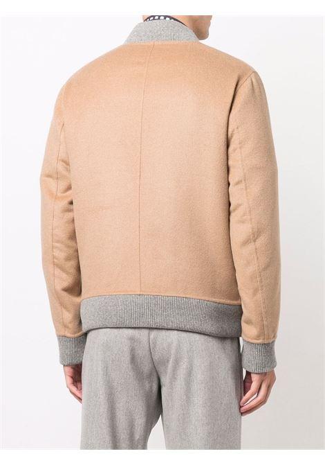 Bomber cammello e grigio in pelo di cammello e lana ELEVENTY | Giubbini | D75GBTD26-TES0D16504