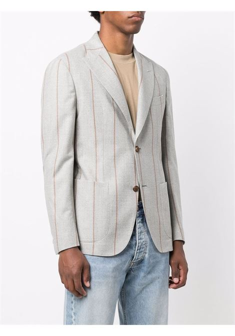 Light-grey and beige wool single-breasted striped blazer ELEVENTY |  | D75GIAC12-TES0D00213