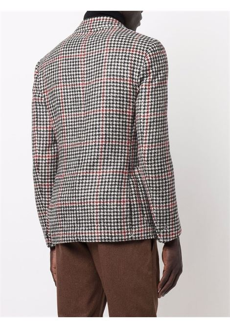 Black,white and red wool houndstooth single-breasted blazer  ELEVENTY |  | D75GIAC12-TES0D06718