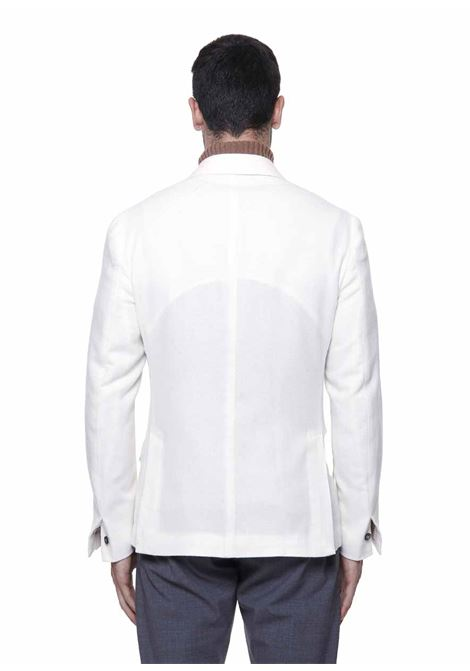 white alpaca and cashmere double-breasted tailored blazer  ELEVENTY |  | D75GIAC14-TES0D06801