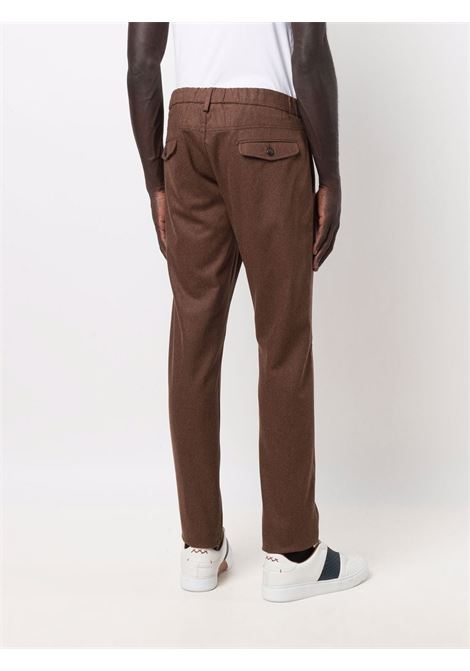 brown wool and cashmere drawstring tailored trousers  ELEVENTY |  | D75PANB21-TES0D03705