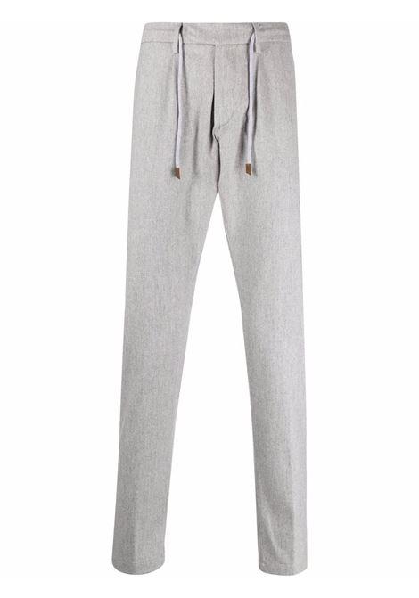 pantalone sartoriale grigio in lana e cashmere con coulisse ELEVENTY | Pantaloni | D75PANB21-TES0D03713