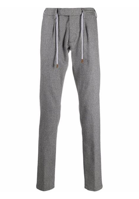 pantalone sartoriale grigio in lana e cashmere con coulisse ELEVENTY | Pantaloni | D75PANB21-TES0D03714
