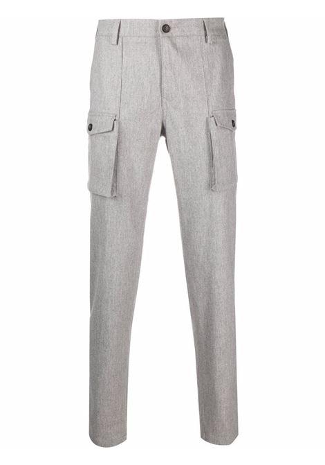 Pantaloni cargo grigio chiaro a gamba dritta in lana e cashmere  ELEVENTY |  | D75PAND01-TES0S03713